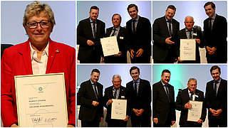Goldene Ehrennadeln für Stoppa, Koch, Bugar, Vianden und Lischewski
