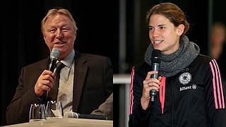 60 DFB-Junior-Coaches im Gespräch mit Krahn und Hrubesch