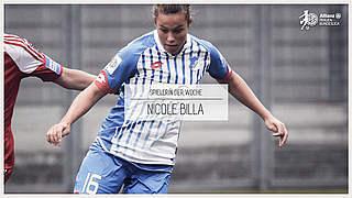 Nicole Billa ist Spielerin des 3. Spieltags