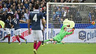 Die Mannschaft verliert in Frankreich 0:2