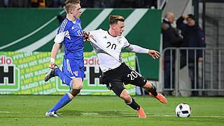 Gerhardt ist Spieler des Färöer-Spiels
